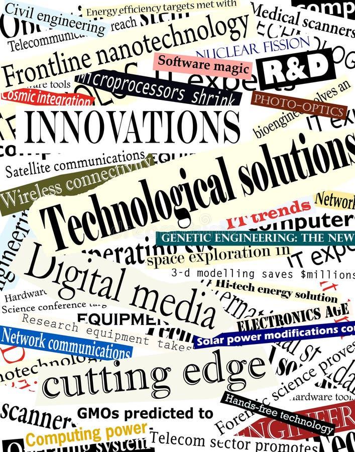 Títulos de la tecnología ilustración del vector