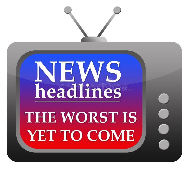 Títulos de las noticias ilustración del vector