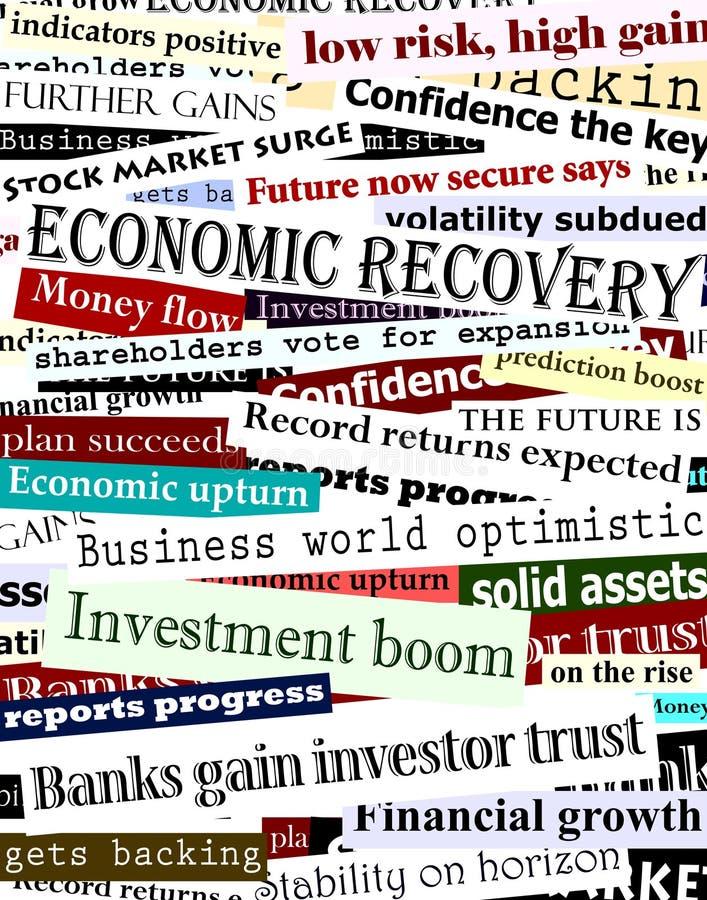 Títulos financieros de la recuperación libre illustration