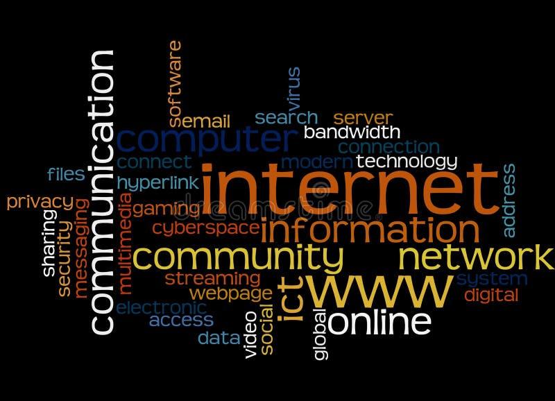Tópicos do Internet ilustração do vetor