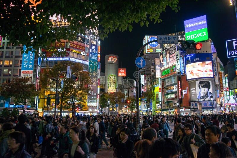 Tóquio da noite foto de stock royalty free