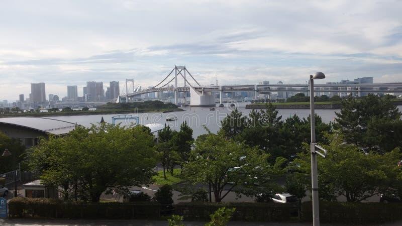Tóquio da ponte do arco-íris foto de stock royalty free