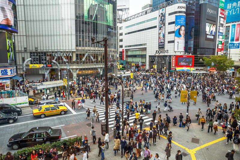 Tóquio do cruzamento de Shibuya foto de stock royalty free