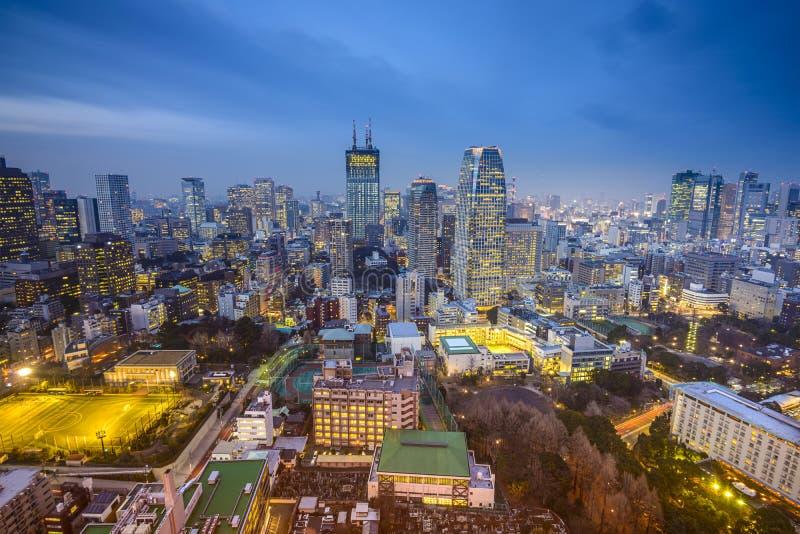 Tóquio, Japão Minato Ward Cityscape fotos de stock