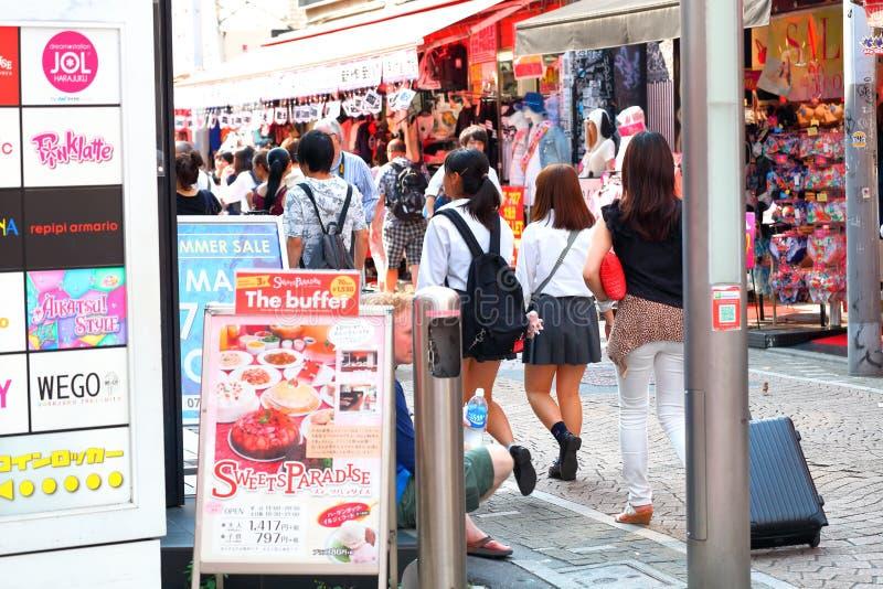 TÓQUIO, JAPÃO: Takeshita StreetTakeshita Dori imagens de stock royalty free