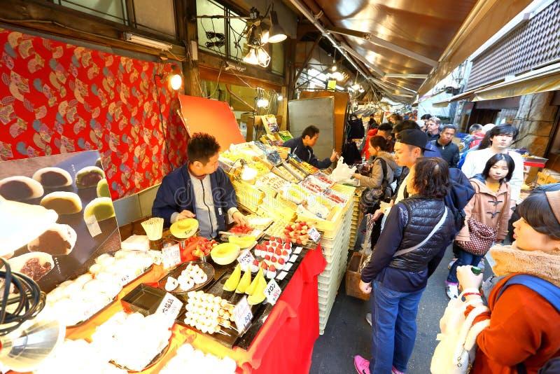 Tóquio: Mercado de peixes de Tsukiji fotografia de stock royalty free