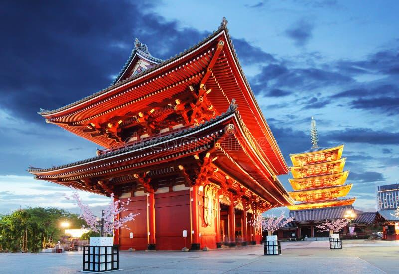 Tóquio - Sensoji-ji, templo em Asakusa, Japão fotografia de stock royalty free