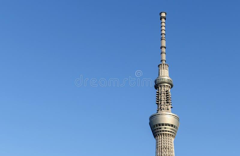 Tóquio Skytree, marco de Japão o reboque famoso do rádio de transmissão foto de stock royalty free