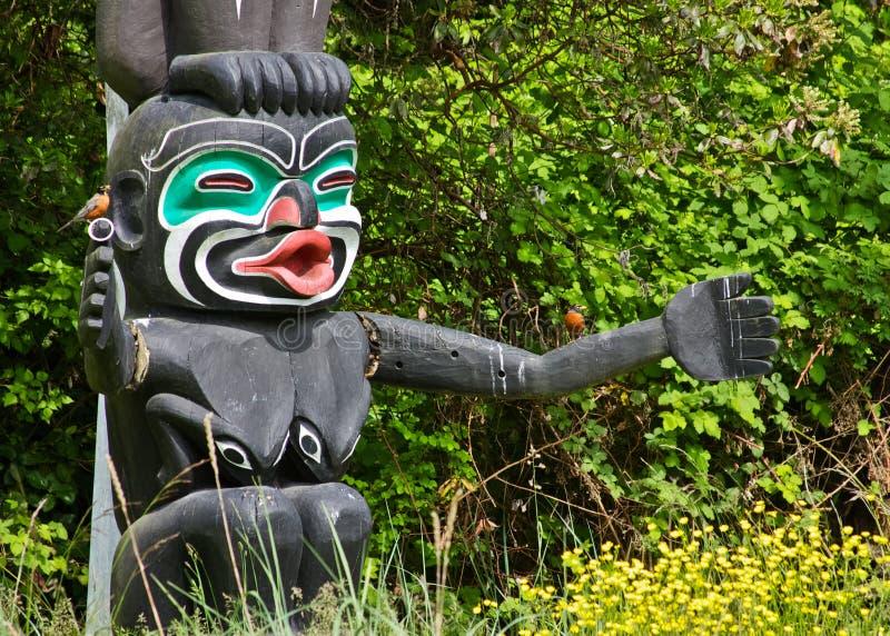 Tótem poste de Vancouver foto de archivo libre de regalías