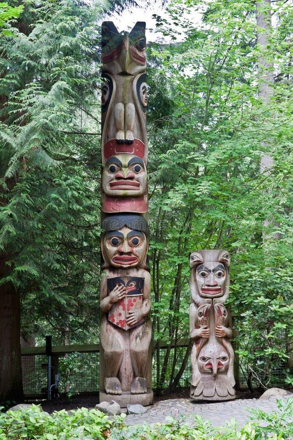 Tótem poste en Vancouver fotografía de archivo libre de regalías