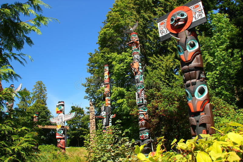 Tótem poste Vancouver foto de archivo libre de regalías
