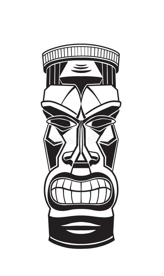 Tótem Tiki de Hawiian ilustración del vector