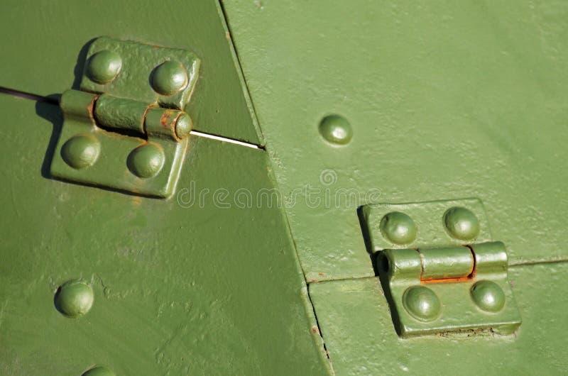 Tôles de blindage sur les premiers chars d'assaut image stock
