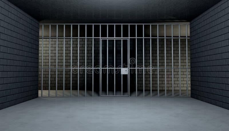 Töm arrestcellen som ut ser royaltyfri illustrationer