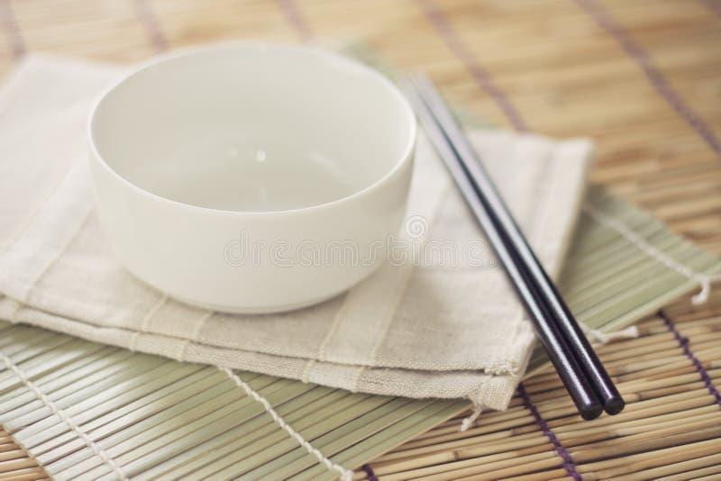 Töm bunken för japan mat arkivfoto
