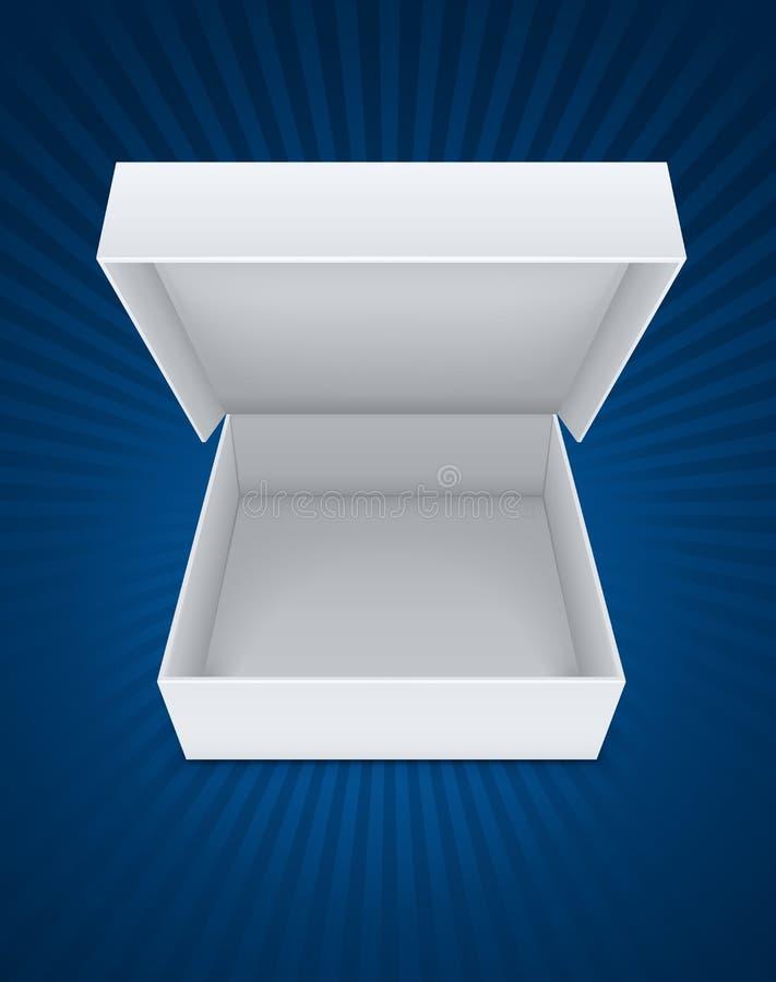 Töm den öppna emballage asken stock illustrationer