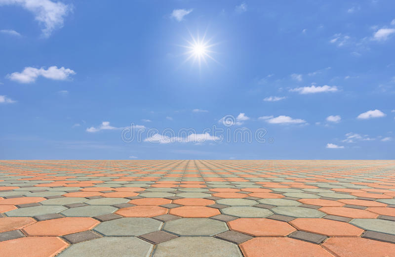 Töm fyrkanten och golvet arkivfoto