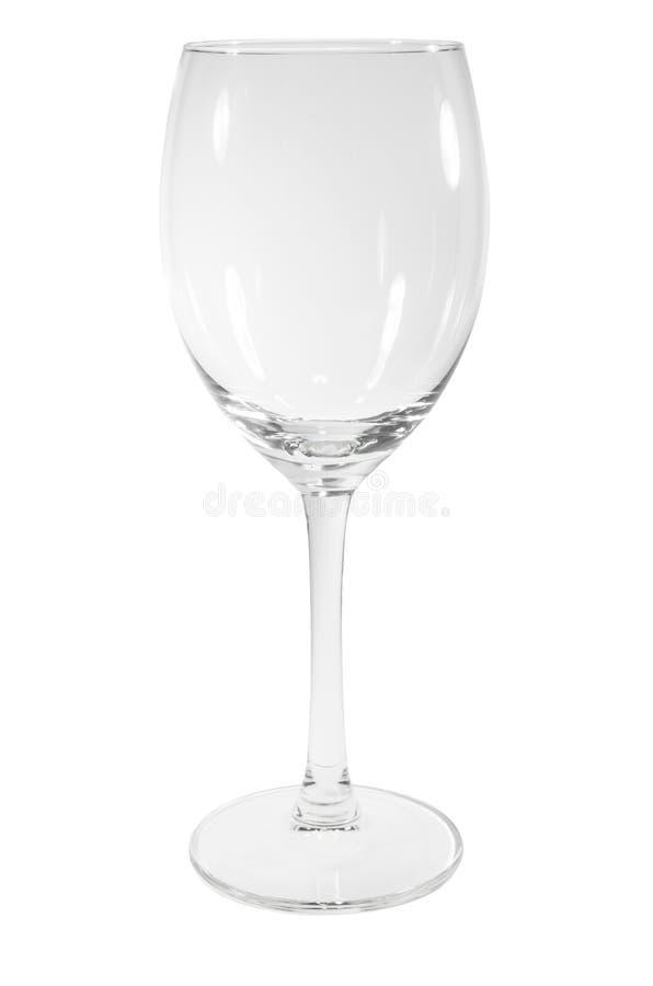 töm glass wine royaltyfri fotografi