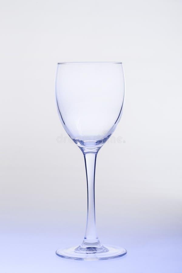 töm glass wine arkivbild