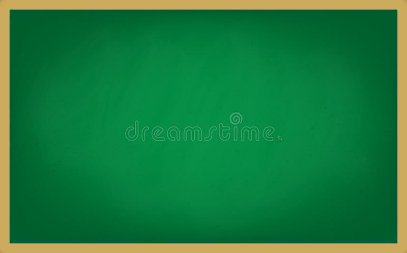 Töm grön bakgrund för kritabrädet vektor illustrationer