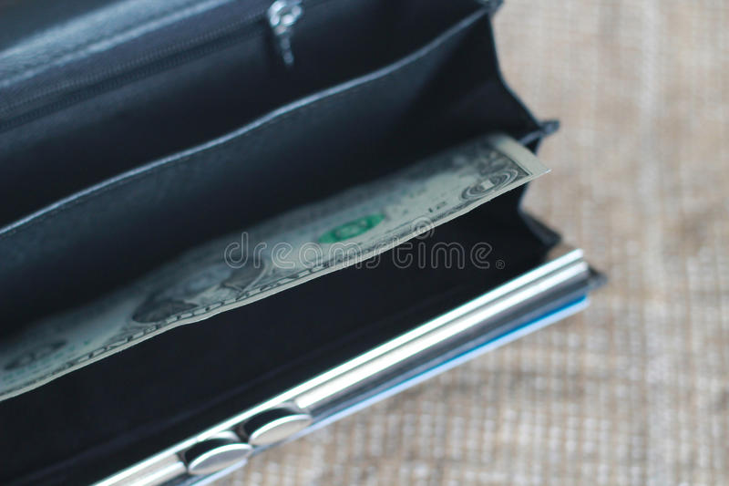 töm handväskan royaltyfria foton