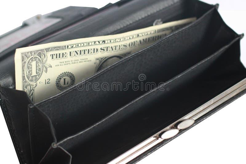töm handväskan royaltyfri bild