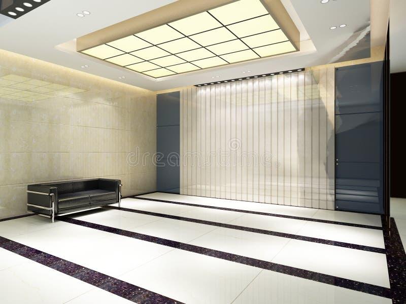 Töm lobbyinre royaltyfri illustrationer