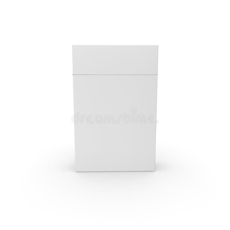 Töm packen för traditionella cigaretter Stång formgivare stock illustrationer