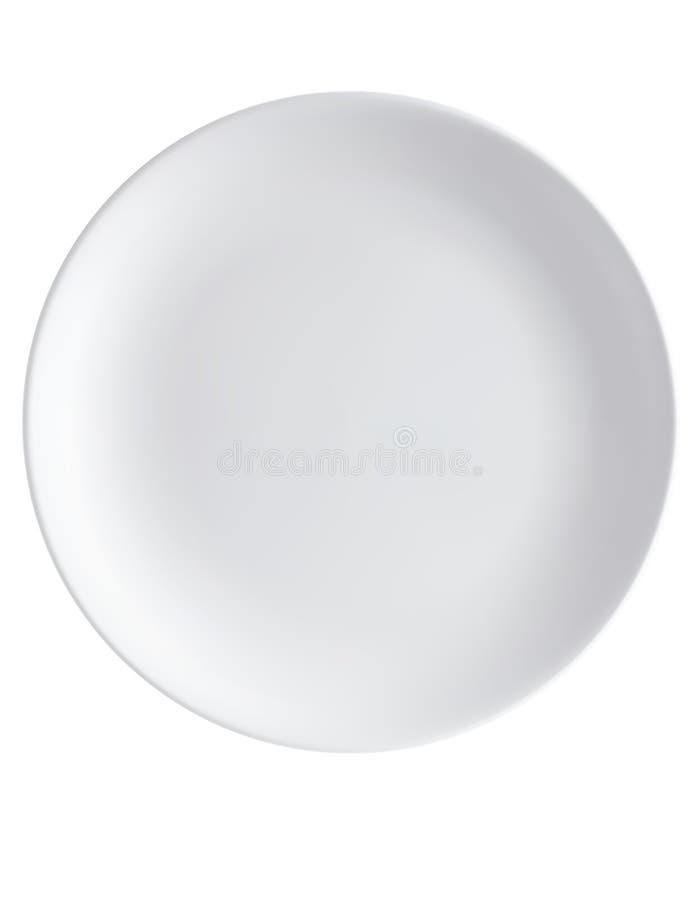 Töm plattan som isoleras på en vit Top beskådar vektor illustrationer