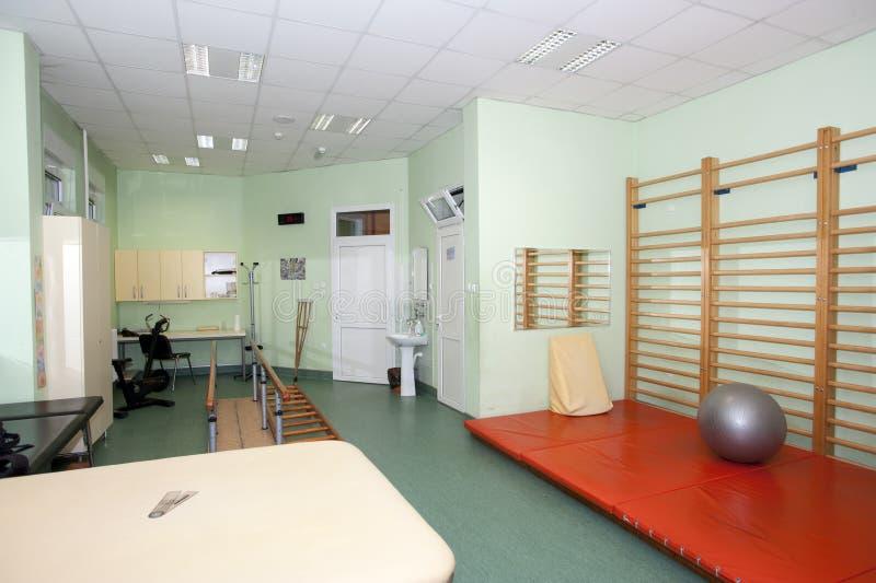 Töm rum på sjukgymnastikkliniken arkivbild