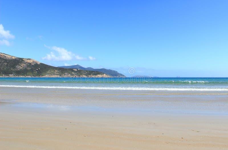 Töm stranden på den Wilsons udden, Victoria, Australien arkivfoto