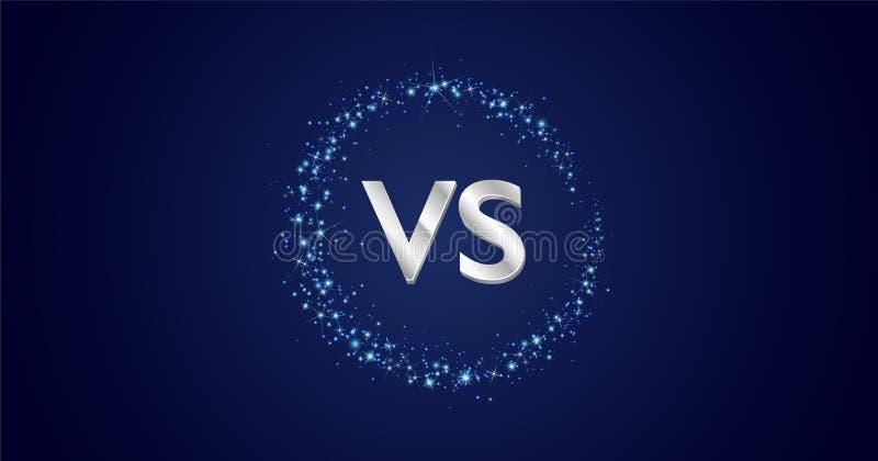 Töm utrymme VS kontra designbegrepp med vägen för cirkeln för stjärnadamm den stjärnklara mjölkaktiga royaltyfri illustrationer