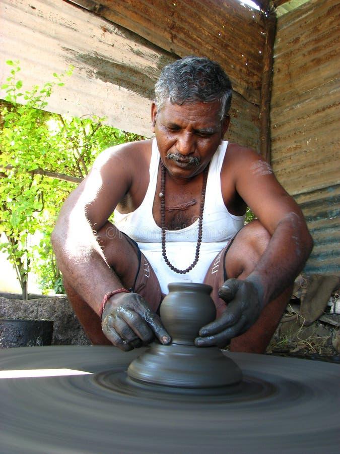 Töpfer von Indien stockbild