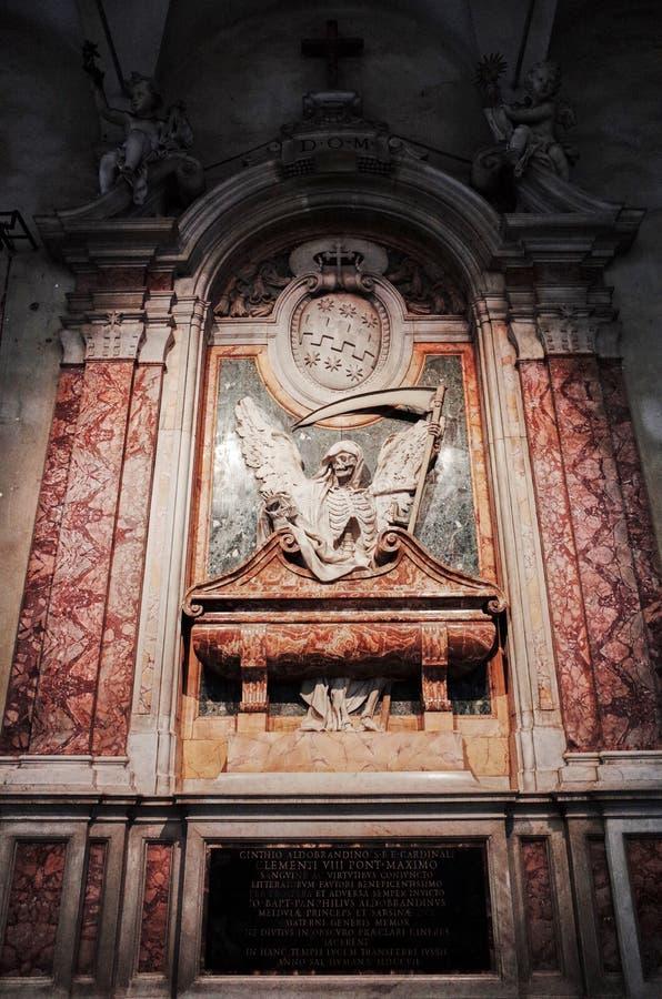 Túmulo cardinal de Cinzio Aldobrandini, ROMA, ITÁLIA fotos de stock