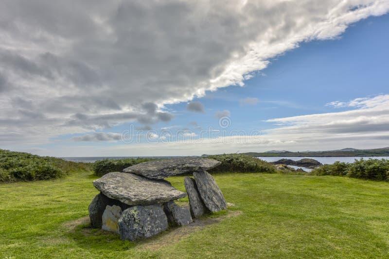 Túmulo da cunha do altar - sepultura em forma de cunha da galeria e monumento nacional da idade Neolítico e adiantada atrasada de imagem de stock royalty free