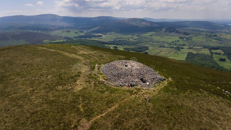 Túmulo da passagem de Seefin condado Wicklow ireland imagem de stock