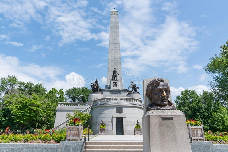 Túmulo de Abraham Lincoln imagens de stock