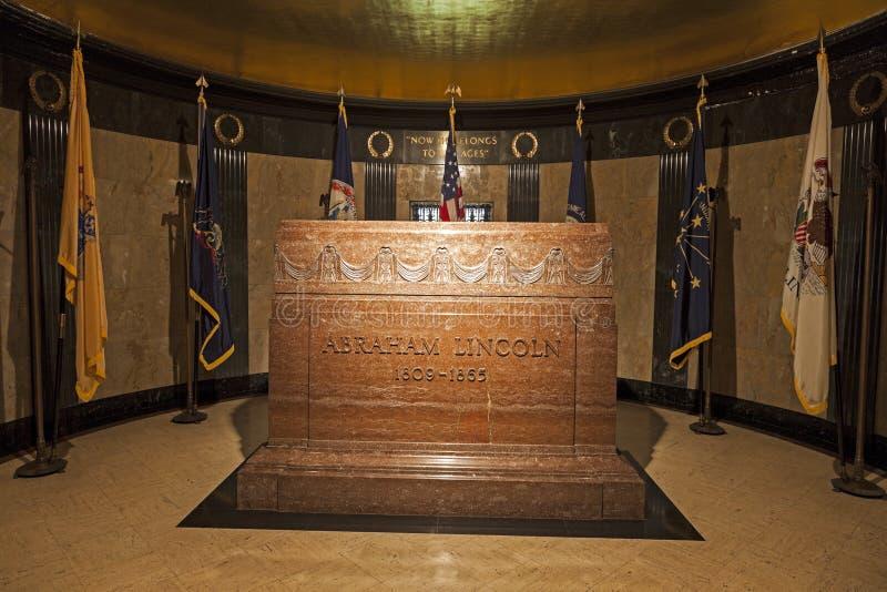 Túmulo de Abraham Lincoln fotografia de stock