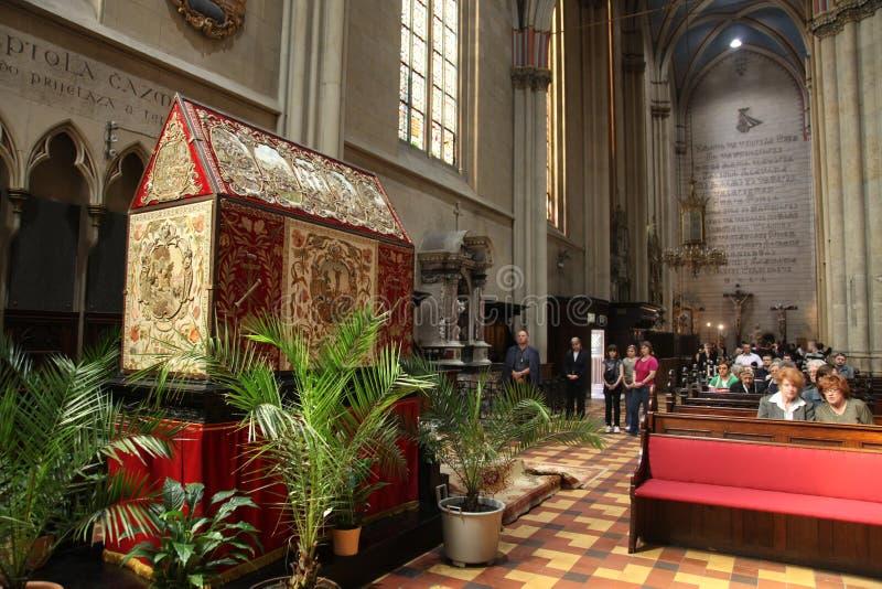 Túmulo de Christ na catedral de Zagreb imagens de stock