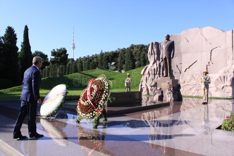 Túmulo de Heydar Aliyev imagem de stock