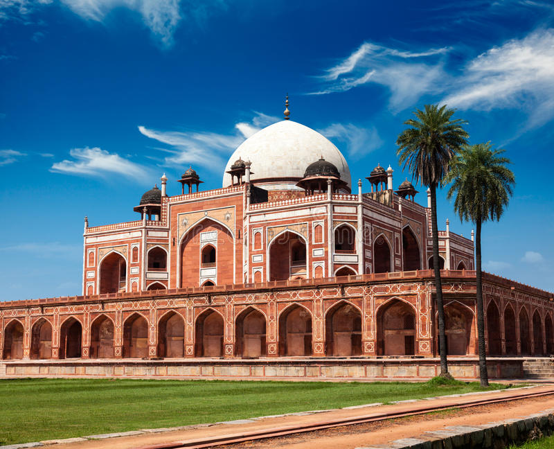 Túmulo de Humayun. Deli, India fotografia de stock royalty free