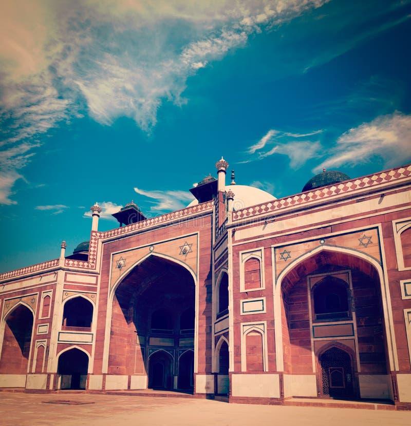Túmulo de Humayun, Deli, India imagens de stock royalty free