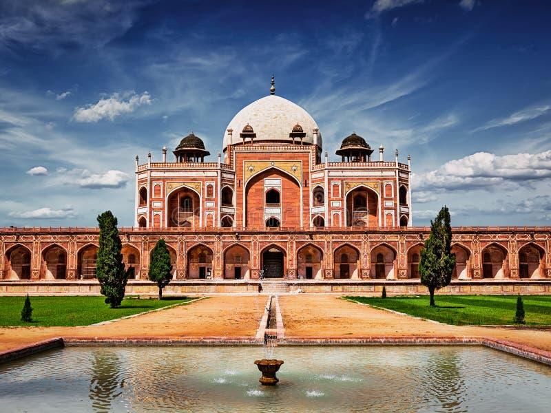 Túmulo de Humayun Deli, India imagens de stock royalty free