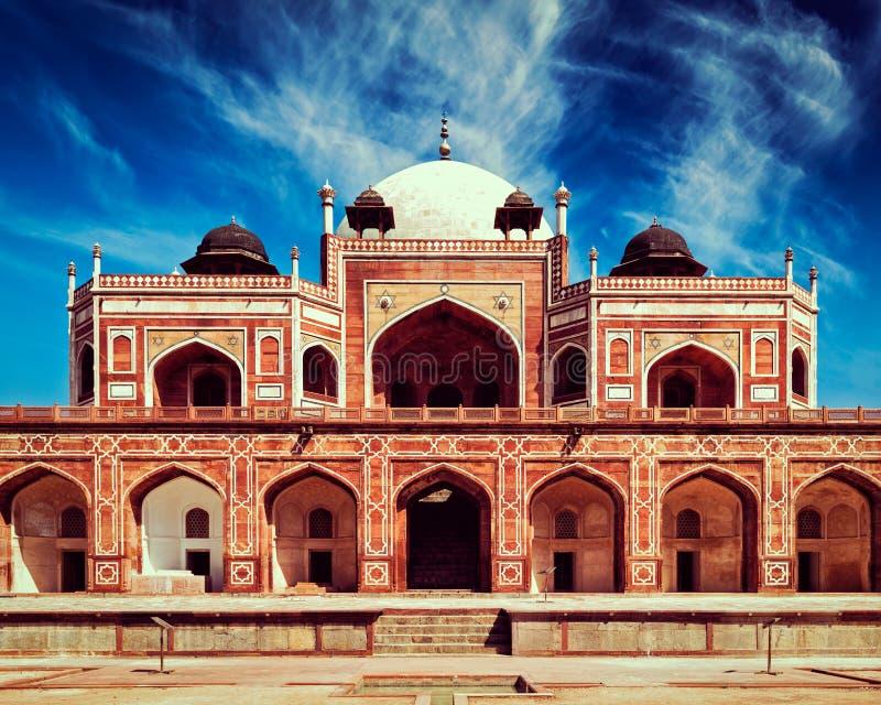 Túmulo de Humayun Deli, India foto de stock royalty free