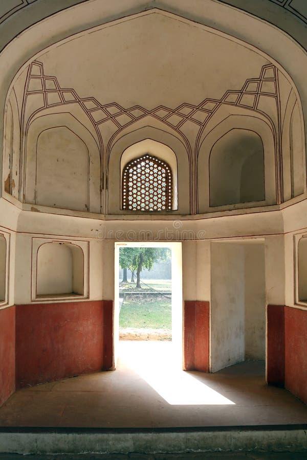 Túmulo de Humayun em Deli, Índia foto de stock