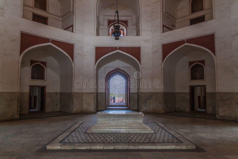 Túmulo de Humayun em Deli, Ind fotos de stock royalty free