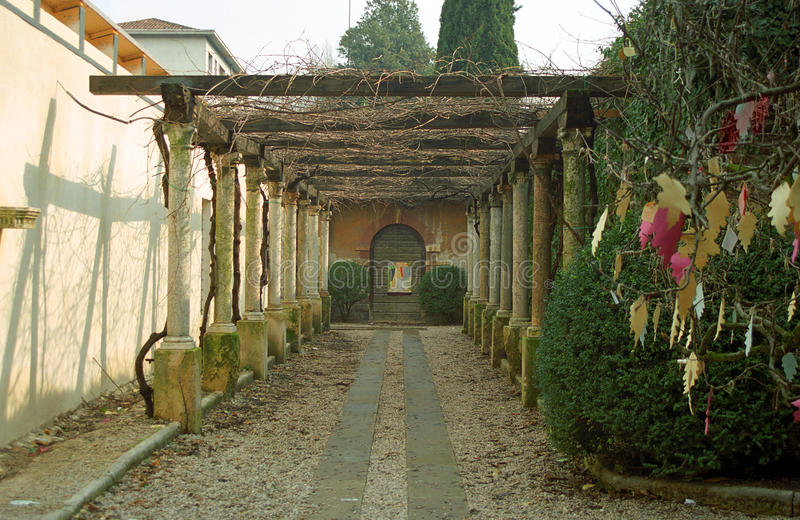 Túmulo de Juliet, Verona, Itália fotografia de stock