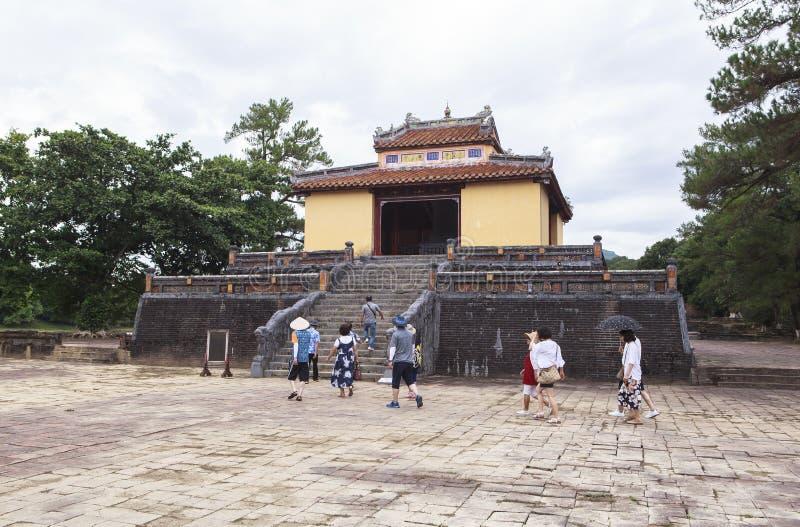 Túmulo de Minh Mang King na matiz, Vietname imagem de stock