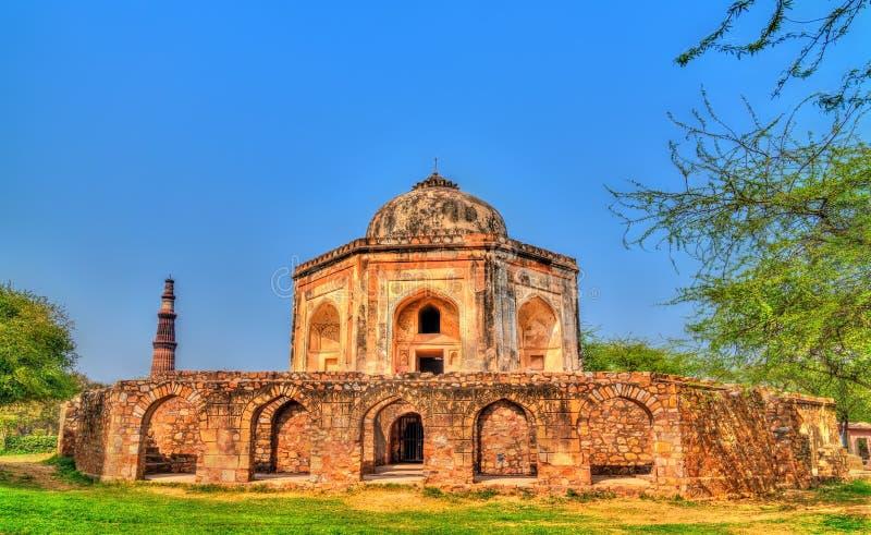 Túmulo de Mohd Quli Khan em Deli, Índia fotografia de stock