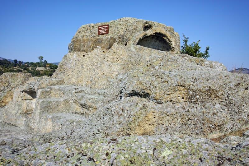 Túmulo de Orpheus no santuário antigo Tatul de Thracian, região de Kardzhali fotografia de stock